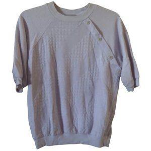 Vintage style up purple knit top M / L